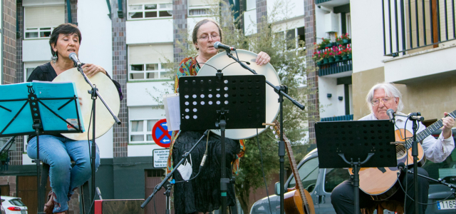 Concert of Sweet Winds at Zeanuri plaza, Biscay, 27-8-2021, 20.30h